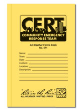 All weather 48 page CERT standard forms book.